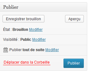 wordpress publier un article