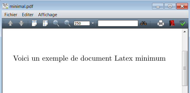 premier document latex  document latex minimal
