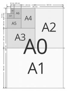 Le format A4     Le format A4 est égal à 21 × 29,7 cm. C'est un format standard ou normalisé qui tient une place très importante dans la fabrication de nombreux produits d'impression. En effet, il est particulièrement adapté à la création ou à l'impression de produits standards tels que la brochure, l'affiche, le livre, le calendrier, le catalogue, le menu de restaurant, etc.  Pour certains produits standards comme le flyer et le dépliant, le format A4 constitue un grand format qui permet de véhiculer une grande quantité d'informations.