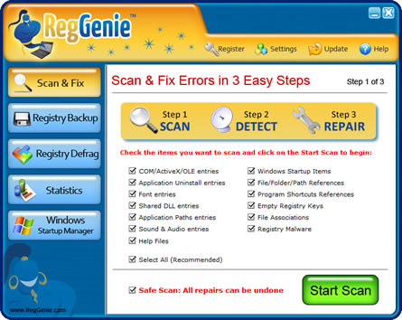 regGenie :How Registry Cleaner Tools Work Registry cleaner tools work just like a computer boffin... they scan through your computers registry and and pick out all the corrupted files.