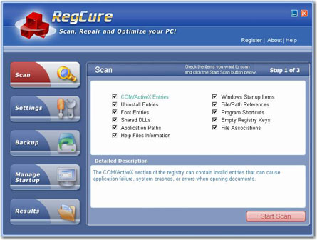 regCure-best registry cleaner tool is one of the most popular on the Internet