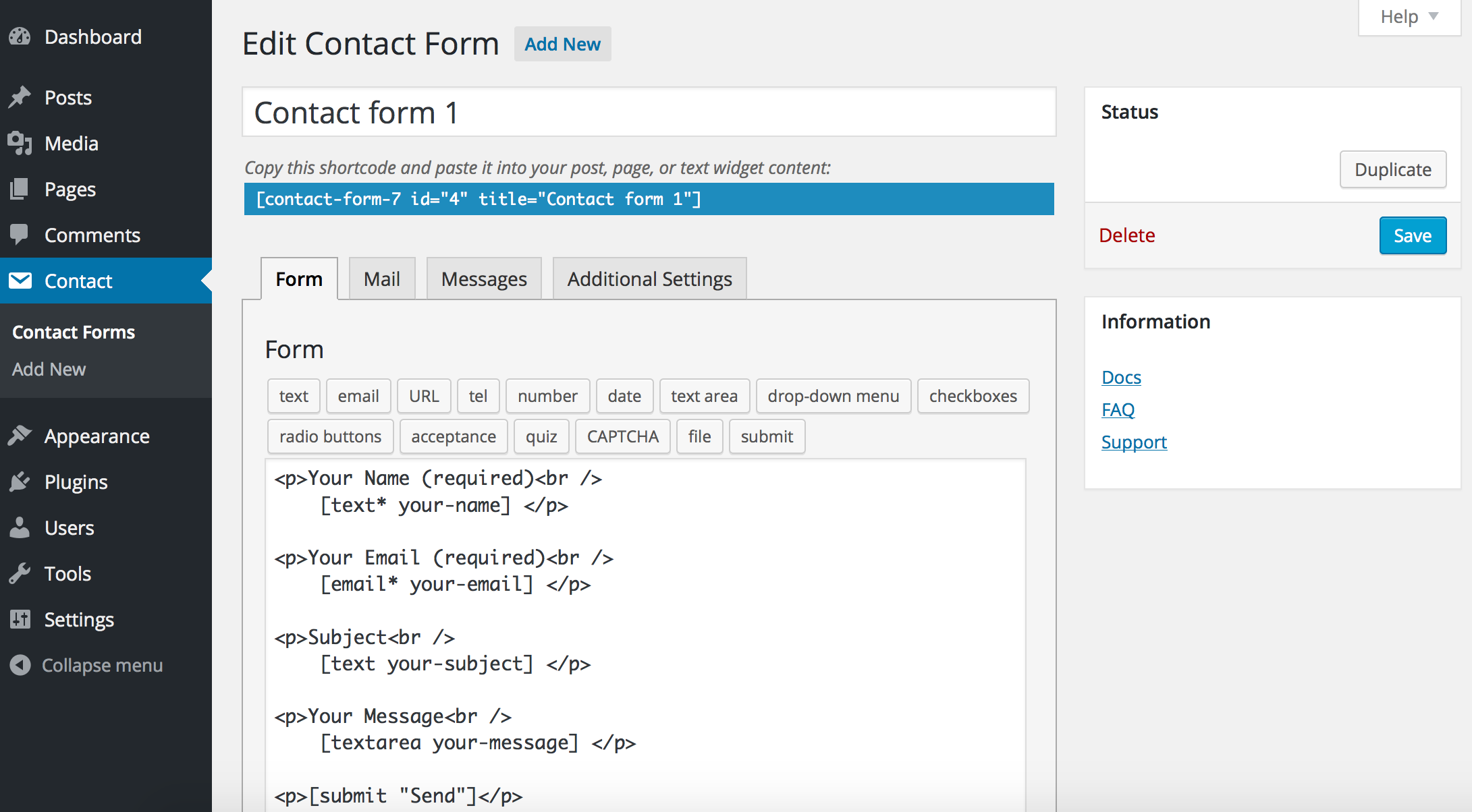 Contect-form-7-wordpress-plugin