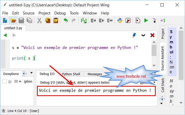 Wing-IDE-Python-execution-programme
