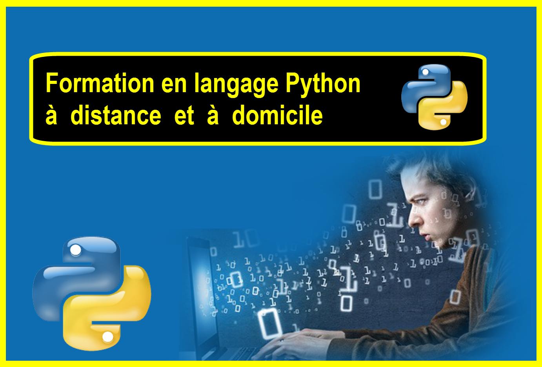 Formation en langage Python à distance et à domicile